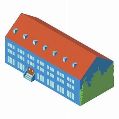 3d Building Isometric Transparent Icon Clipart Svg