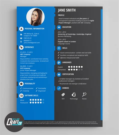 creative cv  original cv design resume template
