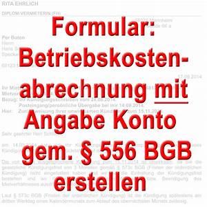 Bfs Abrechnung : formular betriebskosten abrechnung mit angabe konto vermieter ~ Themetempest.com Abrechnung