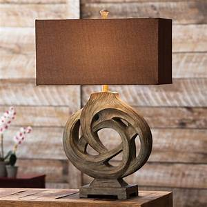 Rustic Table Lamps: Infinity Branch Table Lamp Black