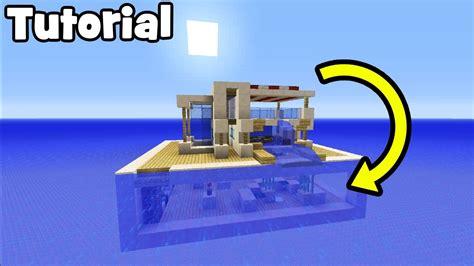 minecraft tutorial     modern water house youtube