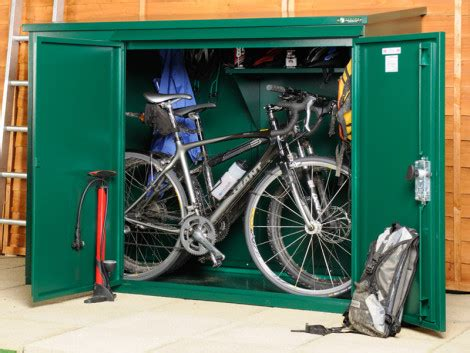 compact bike storage shed metal bike shed for 3 bikes cycle sheds from asgard