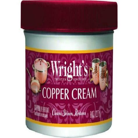 wrights copper  brass cream cleaner  ounce gently