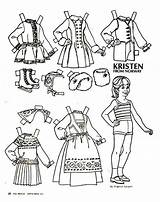Paper Doll Colouring sketch template
