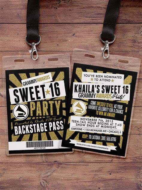 hollywood birthday sweet  vip pass backstage pass