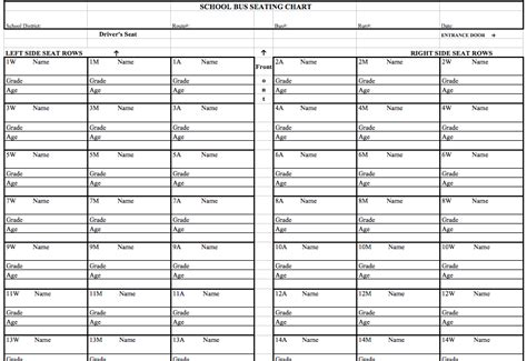 Q Chart Template by Printable School Seating Chart Templates Pictures To