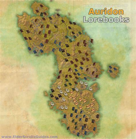 auridon lorebooks map elder scrolls  guides