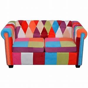 Chesterfield Sofa Stoff : vidaxl chesterfield sofa 2 sitzer stoff g nstig kaufen ~ Whattoseeinmadrid.com Haus und Dekorationen