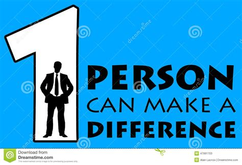Making A Difference Stock Illustration Image Of