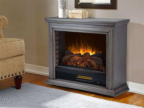 Sheridan Infrared Rolling Fireplace Dark Weathered Grey