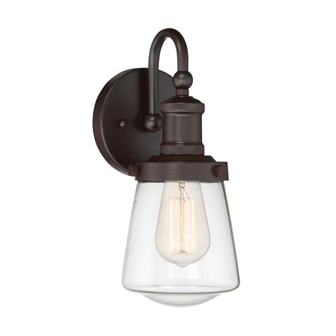 bronze and wall sconces manor brook pulley 1 light rubbed bronze in wall