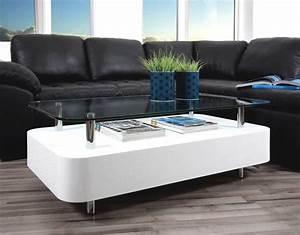 Table De Salon Alinea : table basse alinea blanc laqu mobilier design ~ Premium-room.com Idées de Décoration