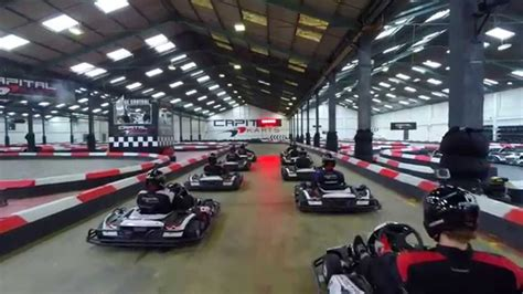 capital karts  karting london drone video youtube