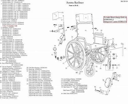 Wheelchair Reclining Parts Sentra Diagram Warranty Brochure