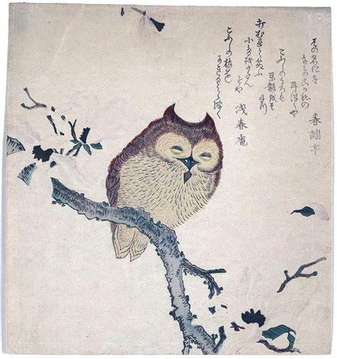 animal bird owl japanese woodcut kirby dynamics