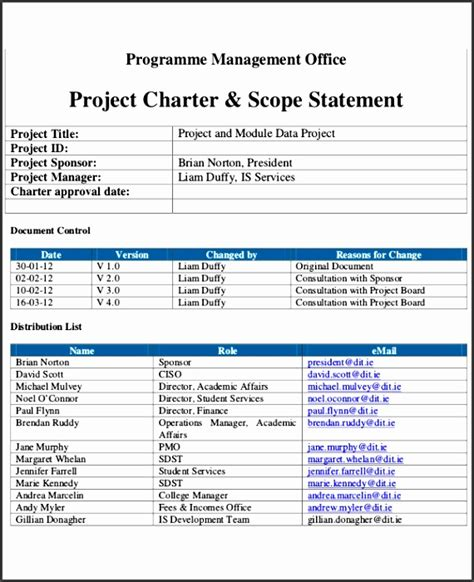 simple project charter template sampletemplatess