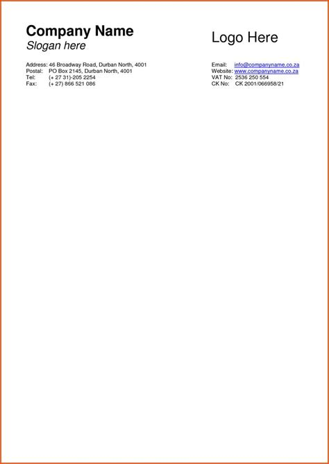 business letterhead template business letterhead format free printable letterhead
