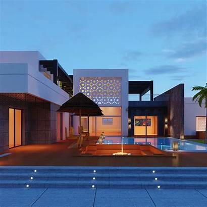 Villa Modern Xyz 3d Pureloli Models Turbosquid