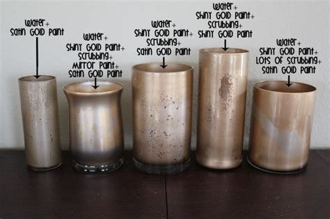 Glass Candle Holders Diy Perserving Jar Satine Paint by Diy Gold Mercury Glass Mercury Glass Glasses And Tutorials