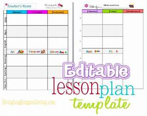 1000 ideas about lesson plan templates on pinterest With free editable weekly lesson plan template