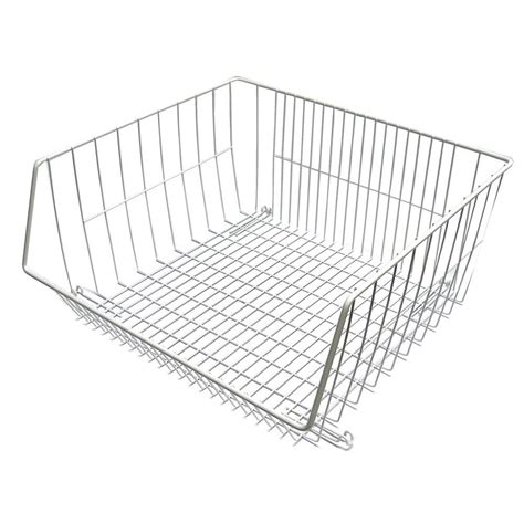 closetmaid wire basket closetmaid 16 1 2 in x 14 in stack or hang wire storage