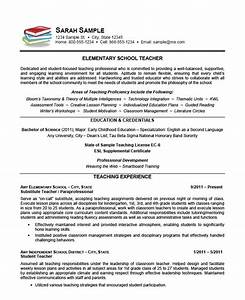 elementary school teacher resume example teaching With elementary teacher resume template