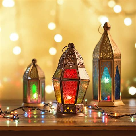 ramadan lamps  lighting background  colorful