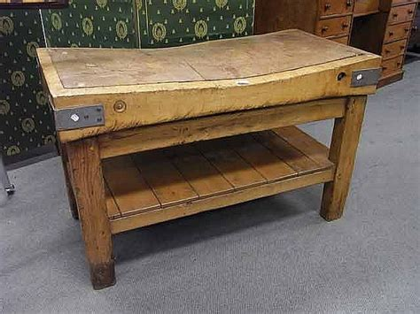 Antique Irish Baltic Pine Butchers Block With Great Patina