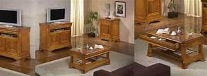 Meuble Salon Bois : salon s jour classique topaze ch ne ou merisier meubles bois massif ~ Teatrodelosmanantiales.com Idées de Décoration