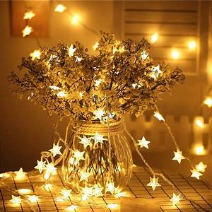 Star, String, Lights, 20pcs, Decoration, Items, For, Birthday, Indoor, Outdoor, Diwali, Navratri, Wedding