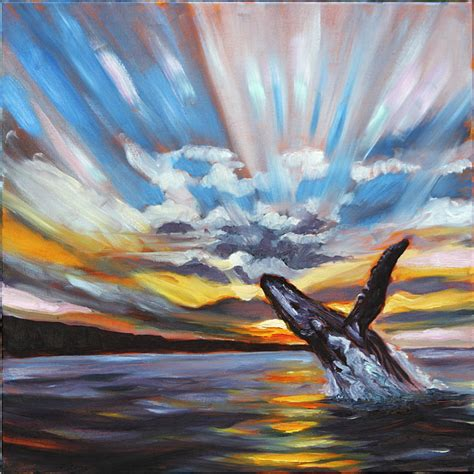 whale painting hawaii ronald lee oliver