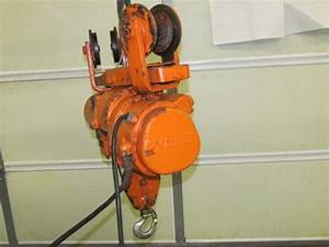 Yale 1  2ton Load King Electric Hoist With Trolley 9ft Lift