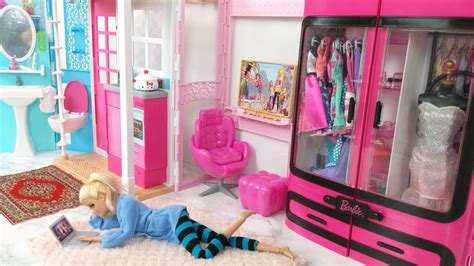 kitchen dollhouse furniture bedroom house morning routine scooter