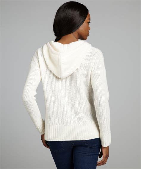 Womenu0026#39;S White Hooded Sweater - Long Sweater Jacket