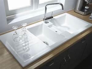 leroy merlin evier de cuisine a encastrer en gres With salle de bain design avec evier en gres blanc