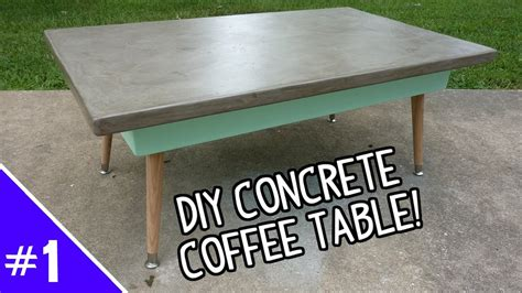 how to make a concrete table diy ardex concrete coffee table part 1 of 2 youtube