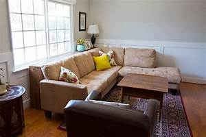 Diy console table for Sectional sofa with table behind