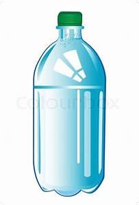Plastic bottle with water | Stock Vector | Colourbox