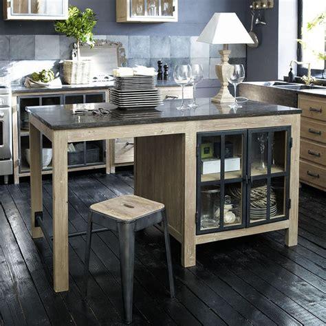cuisine copenhague maison du monde îlot central en bois recyclé l 150 cm copenhague maisons