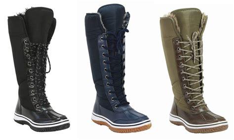 mata womens fur lace  waterproof winter boots groupon