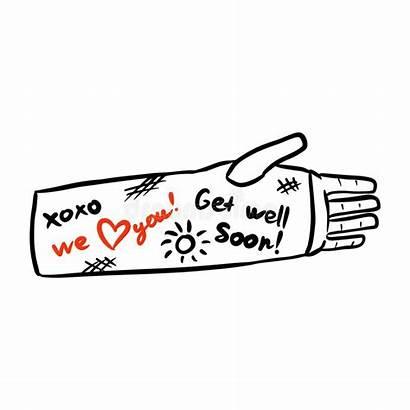 Broken Well Soon Arm Wishes Cast Injured