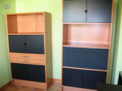 2 meubles bureau ikea effektiv occasion