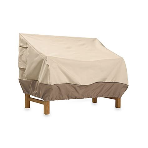 outdoor loveseat covers classic accessories 174 veranda patio loveseat and bench