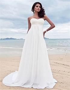 Discount Greek Wedding Dress Beach Simple Deep V Neck ...