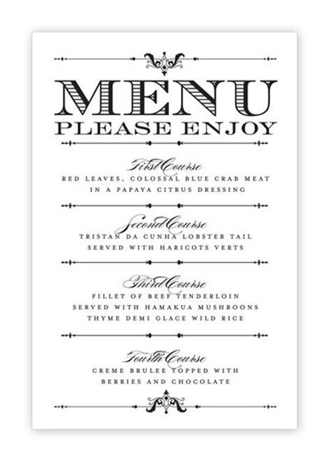 wedding menu card printable diy  hesawsparks  etsy