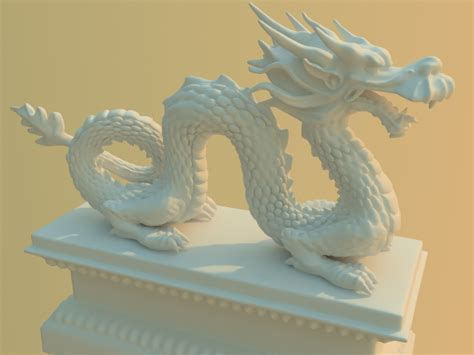 Traditional Chinese dragon statue 3d model 3ds max files