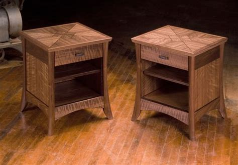 handmade walnut night stands  neal barrett woodworking