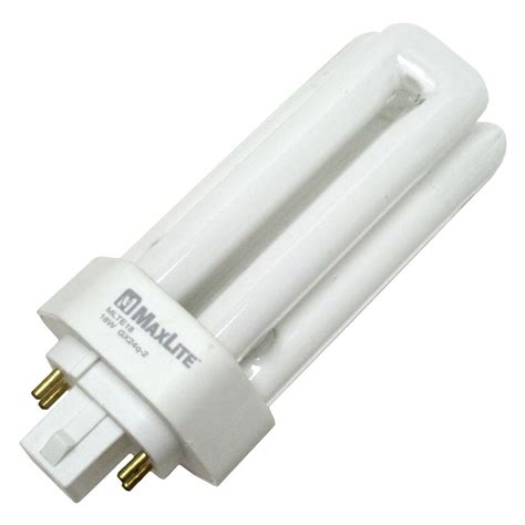 small fluorescent lights maxlite 16413 mlte18 30 triple tube 4 pin base compact fluorescent light bulb elightbulbs com