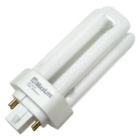 compact fluorescent light bulbs maxlite 16413 mlte18 30 4 pin base compact