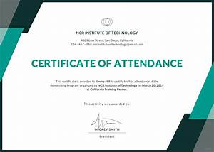 Free event attendance certificate template in adobe for Certificate of attendance seminar template